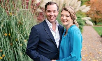 Los grandes duques herederos Guillermo y Stéphanie de Luxemburgo esperan su primer hijo