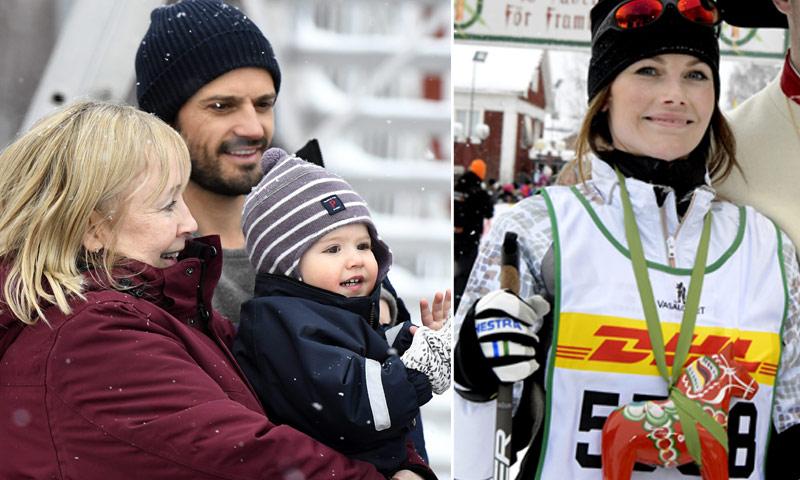 Sofía de Suecia participa en la carrera femenina de esquí de Tjejvasan arropada por toda su familia