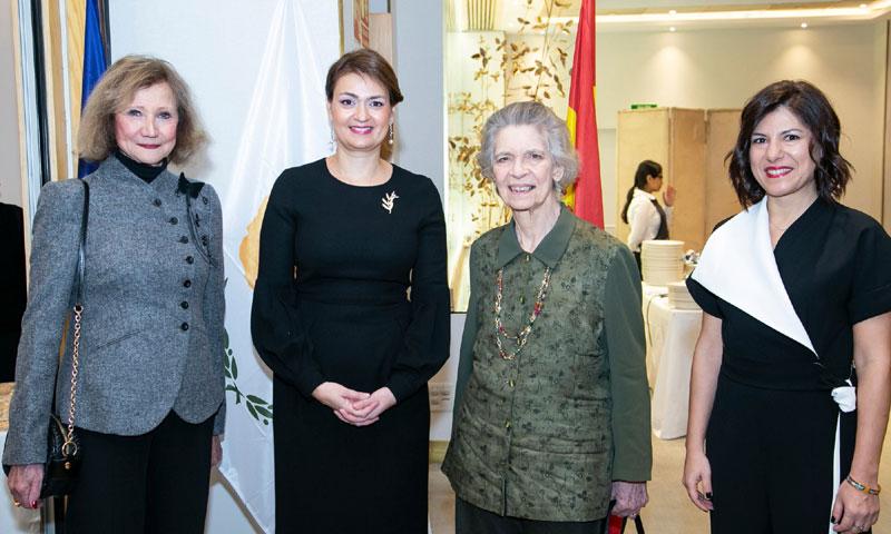 La princesa Irene de Grecia acude a la recepción de la Embajada de Chipre