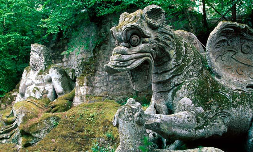 El sobrecogedor jardín de monstruos de Bomarzo, una locura de amor y miedo