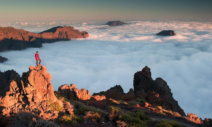 Por las nubes en la isla (más) bonita de las Canarias