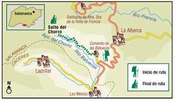 Lipe2000 ruta de senderismo chorro de las batuecas for Distancia salamanca a la alberca