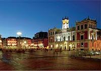 fiesta en la Plaza Mayor De Valladolid