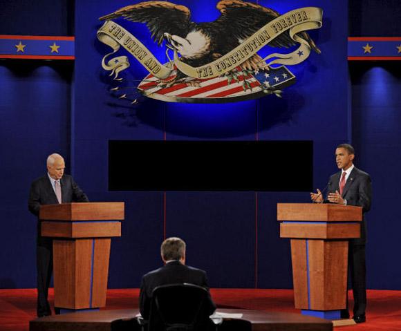Barack Obama y John McCain protagonizan el primer debate presidencial