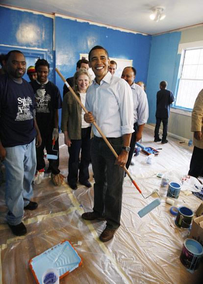 Barack Obama: 'pintor', 24 horas antes de Presidente de Estados Unidos