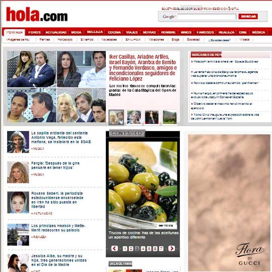 Hola.com entra en el Top 10 de los medios de comunicación más visitados en Internet