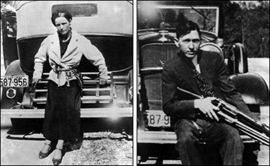 La increíble historia de amor y huida de Bonnie y Clyde