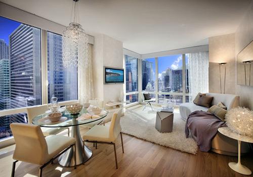 El cielo inmobiliario las viviendas m s vanguardistas de nueva york - New york apartment small space living minimalist ...