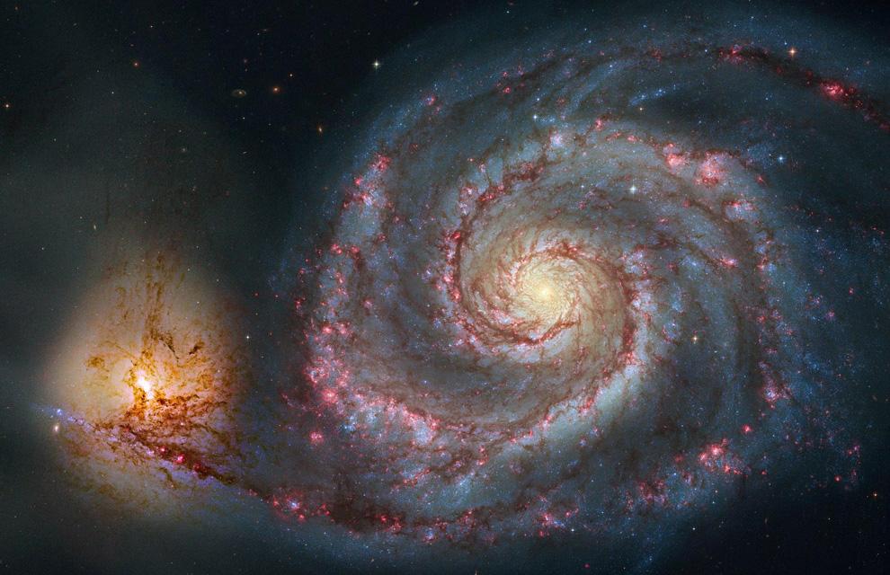 La Galaxia Remolino se localiza en la constelación del perro cazador. Descubierta en 1773, es una de las galaxias espirales más conocidas del firmamento