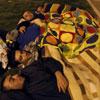 Miles de personas pasan la noche en las calles de Lorca tras los terremotos