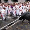 El 'chupinazo' y el primer encierro de los Sanfermines 2011, en fotos a toda pantalla
