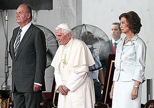 JMJ 2011: Los Reyes acompañan a Benedicto XVI durante la última jornada de su visita a España
