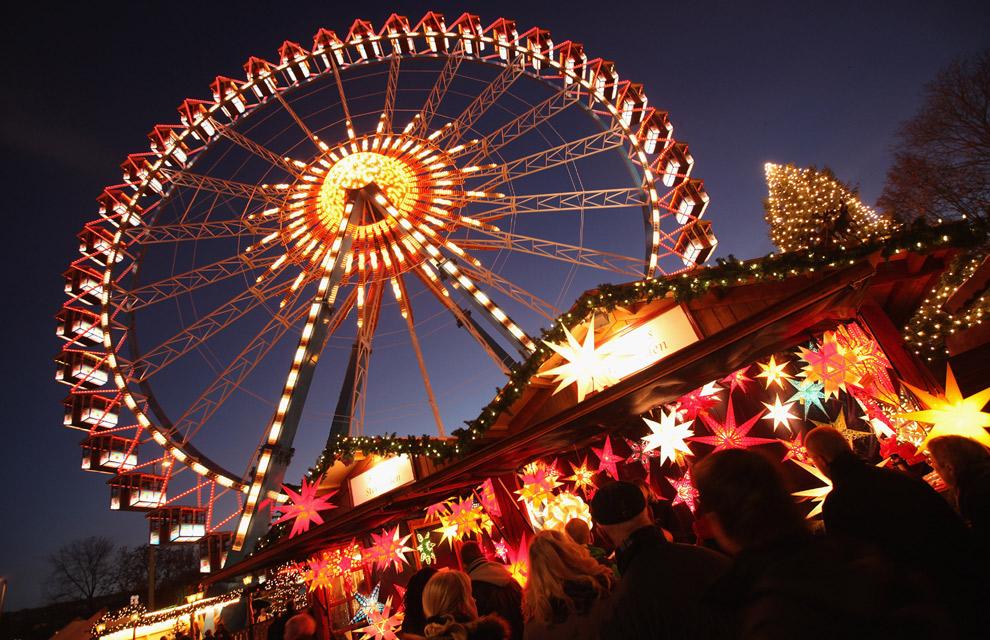 Luces colores rboles decorados belenes ya es navidad - Navidades en alemania ...