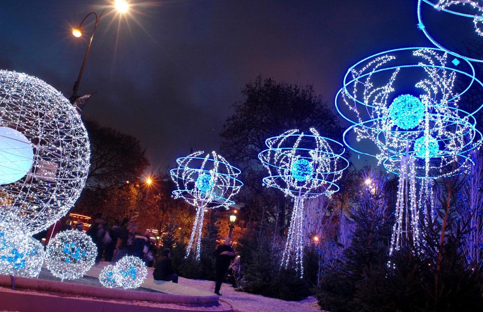 los campos elseos de pars tambin se han iluminado estos das para celebrar la navidad