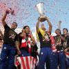 La fiesta rojiblanca del Atlético de Madrid con su afición, en fotos