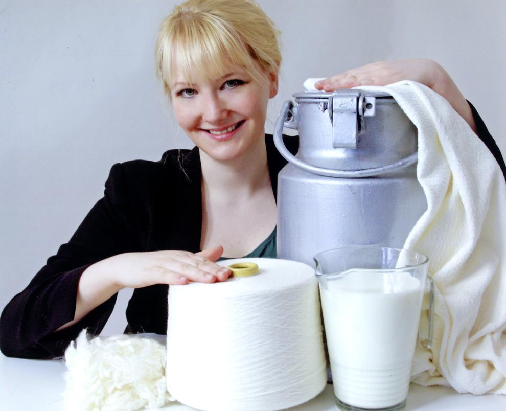 Lo último en moda: ropa cien por cien láctea