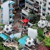 Balones que abastecen de agua a viviendas