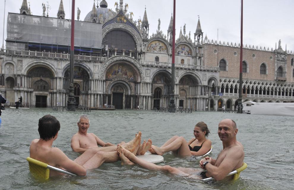 Con el agua al cuello en Venecia