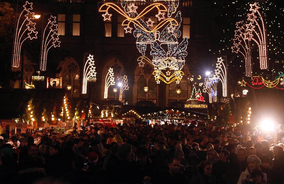 las luces de navidad que iluminan el mundo