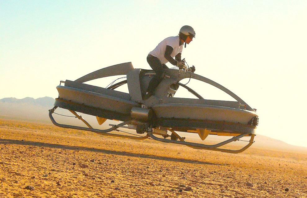 Una moto voladora inspirada en 'La guerra de las galaxias'