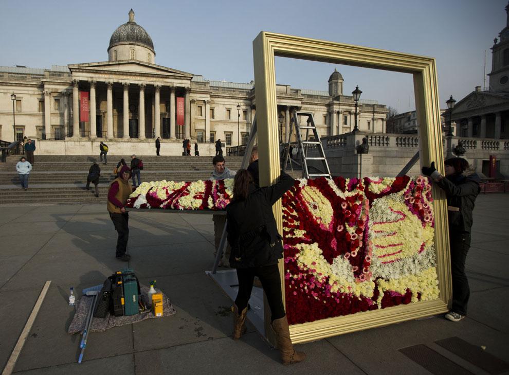 Retrata a los Duques de Cambridge con 1.830 flores