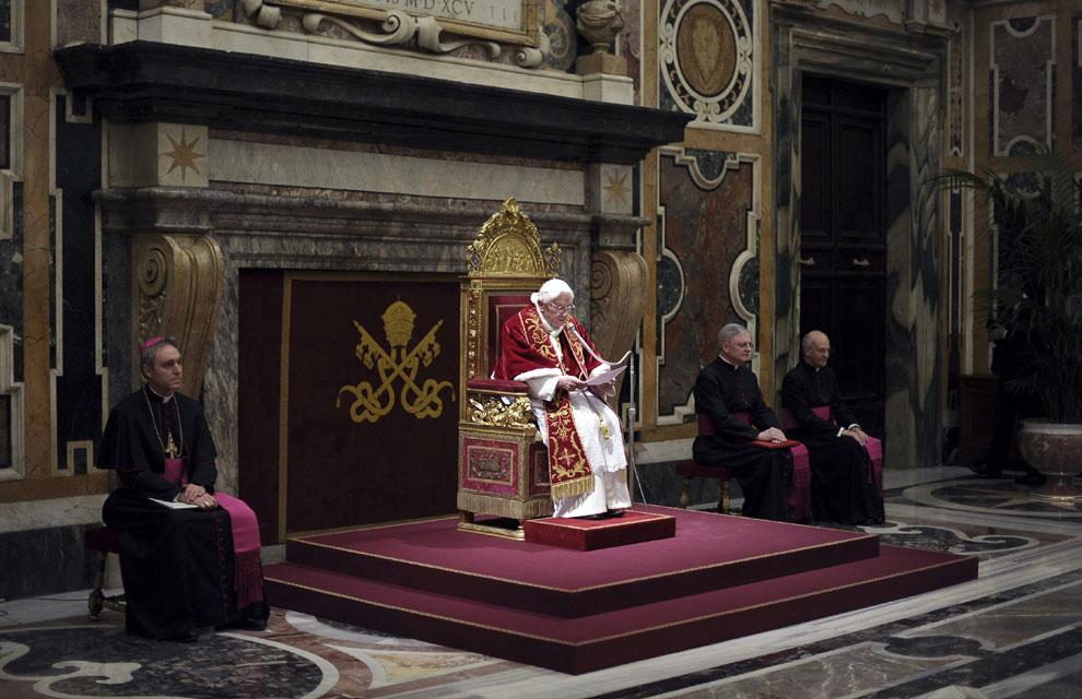 Las imágenes del último día de Pontificado de Benedicto XVI