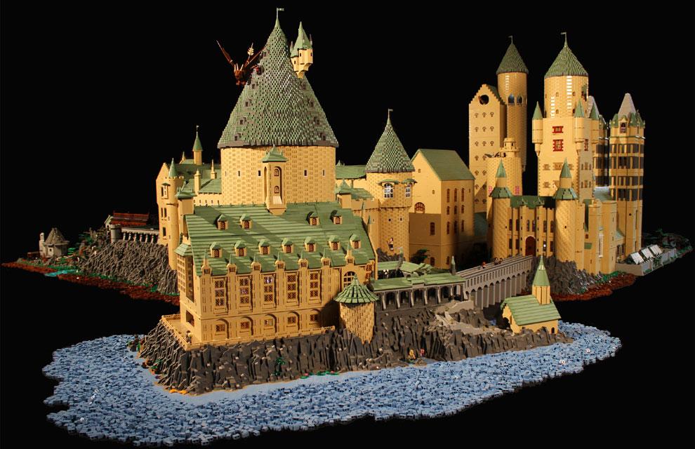 El castillo de Harry Potter, con 400.000 piezas de Lego