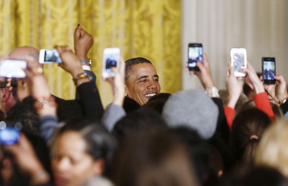 Fotografiando al presidente... ¡todos a una!