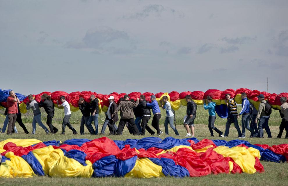 La bandera más grande del mundo está en Rumanía