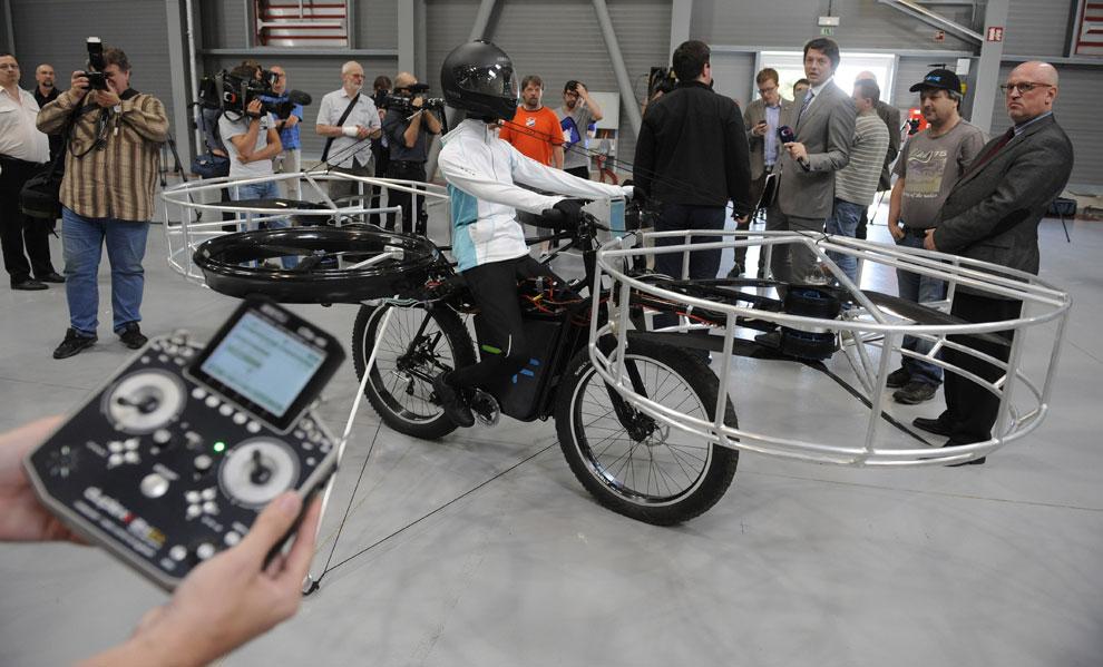 Así es la primera bicicleta voladora