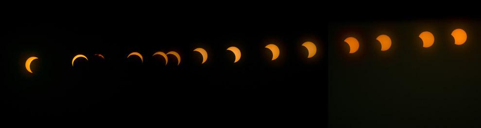 Así se vio el eclipse híbrido de sol