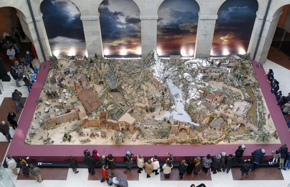 Un belén que recrea paisajes españoles