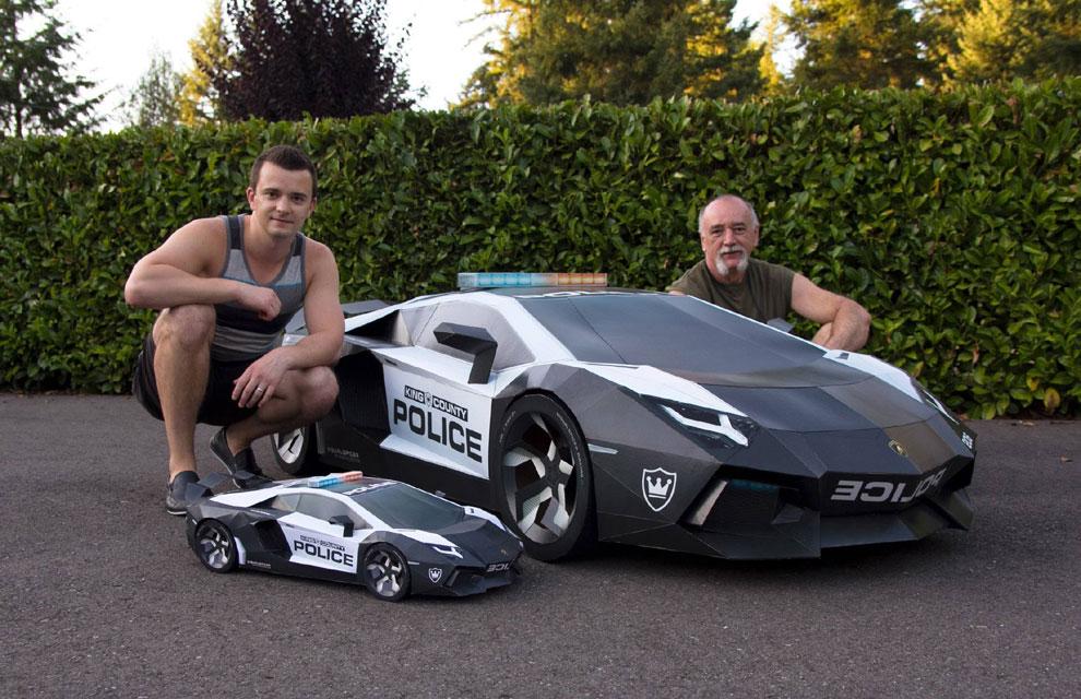 Construye en papel el coche de sus sueños