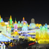 Una ciudad de hielo llena de luz y color