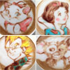 Un dibujo animado en el café