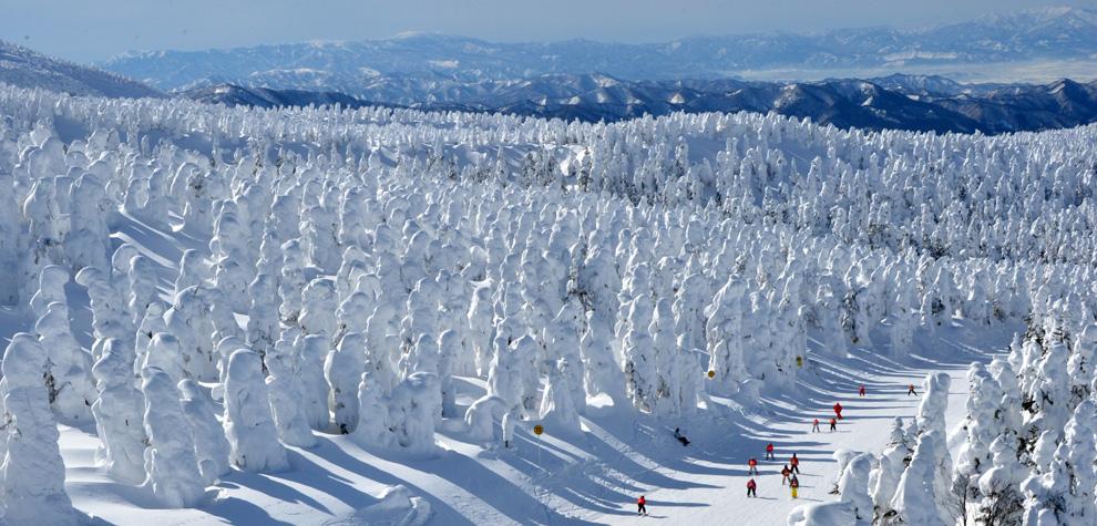 Esquiando entre 'monstruos de hielo'