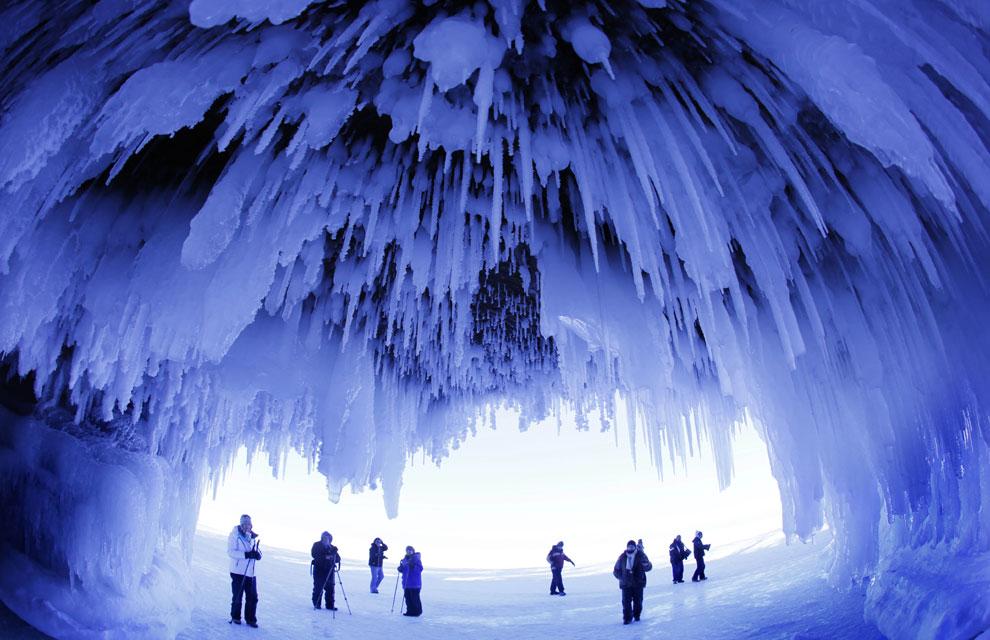 Se congela el lago más grande del mundo