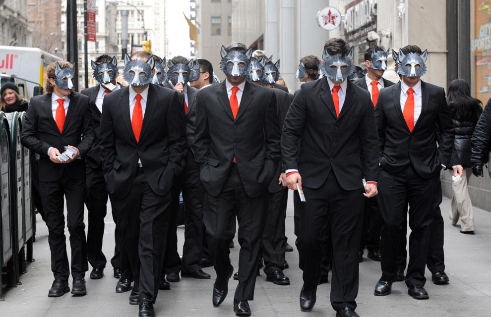 Wall Street se llena de'hombres lobo'