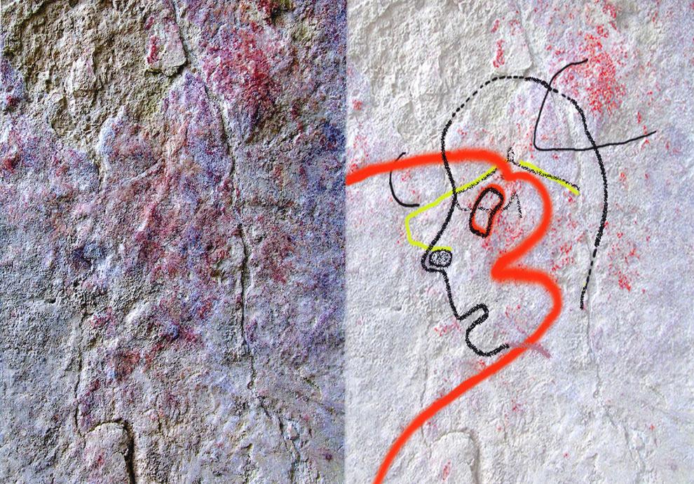 Un dibujo en Almería, ¿primer retrato de la Humanidad?