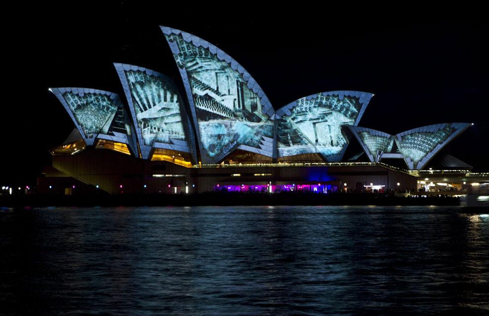 La Ópera de Sídney, un espectáculo de luz y color