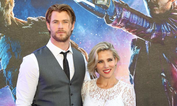 Chris Hemsworth y Elsa Pataky se 'cuelan' en un estreno de superhéroes