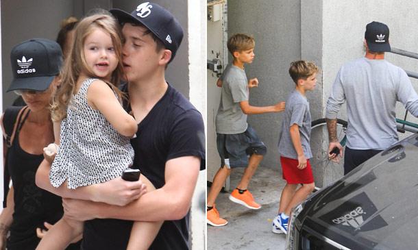 Fin de semana de deporte en familia con los Beckham al completo