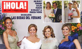 Exclusiva en ¡HOLA!: Las bodas del verano; Alba Carrillo nos anuncia su boda con Feliciano López; Tamara Falcó y Enrique Solís, una relación muy especial; y más...