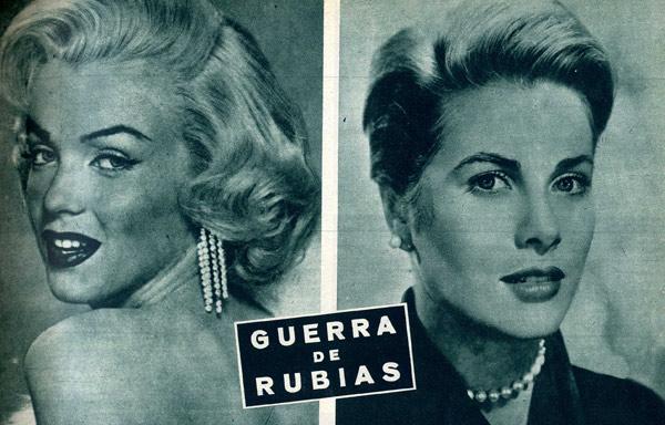 ¿Marilyn Monroe o Grace Kelly? Esta era la pregunta que lanzaba la revista '¡HOLA!' en el año 1955