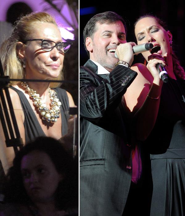 Rosa Benito hace un alto en sus solitarias vacaciones para acudir al concierto de su hija Rosario Mohedano en Marbella