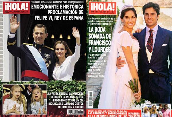 Las 10 portadas de ¡HOLA! que más se han vendido este año