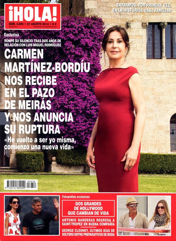 Esta semana Carmen Martínez-Bordíu recibe a ¡HOLA! en el Pazo de Meirás y nos anuncia su ruptura con el empresario Luis Miguel Rodríguez