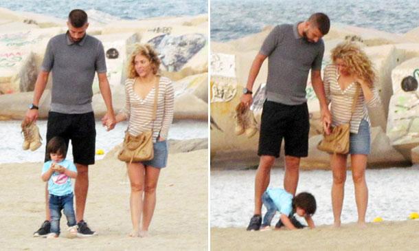 Shakira, Piqué y Milan... en un familiar día de playa