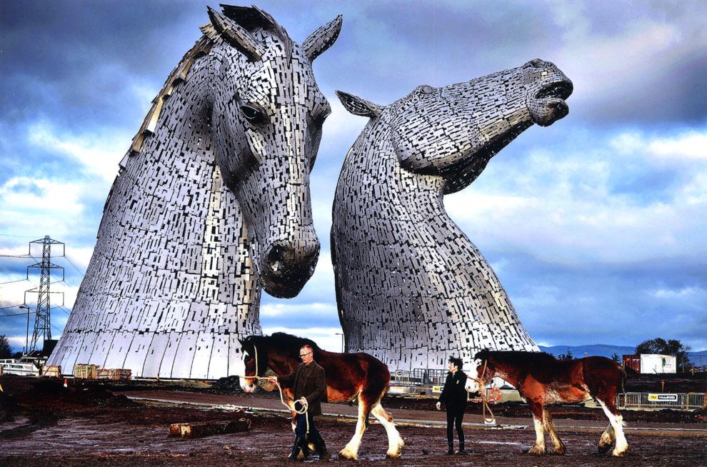 La escultura gigante de los 'Kelpies'