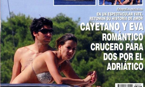 Exclusiva en ¡HOLA!, Cayetano y Eva, romántico crucero para dos por el Adriático